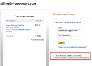 Paying Without PayPal Account