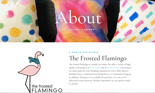 About the Frosted Flamingo