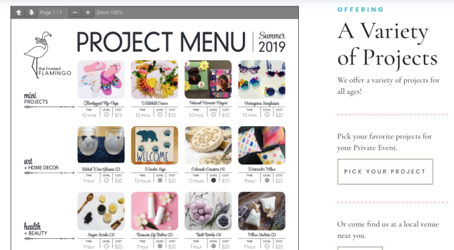 project menu frosted flamingo